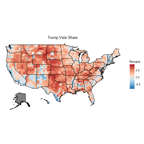 Obviously These Maps Don T Tell The Whole Story Our Eye Equates Size With Importance Unfortunately Urban Counties Are Small On The Map But Have Huge